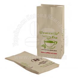 """Пакет бумажный для чая фирменный """"Romantic Tea"""""""