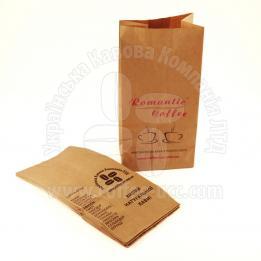 """Пакет паперовий для кави фірмовий """"Romantic Coffee"""""""