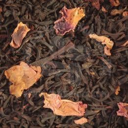 Суниця з вершками чорний чай